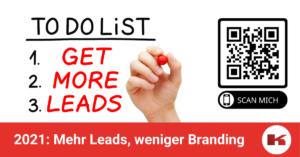 Mehr Leads, weniger Branding