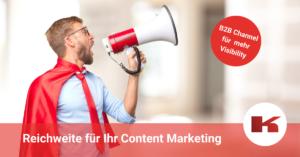 B2B Channel für Ihr Content Marketing