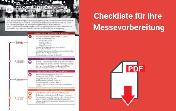 Kostenloser Download Messe Checkliste 2020